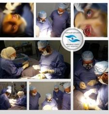 اجراء عملية نادره في مستشفى الشرق الأوسط للعيون الاحد الموافق 5-8-2018 م - ( عملية تصحيح حول شللي في العصب الدماغي الثالث )