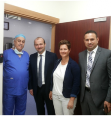 Visit of the German delegation to middle east eye hospital