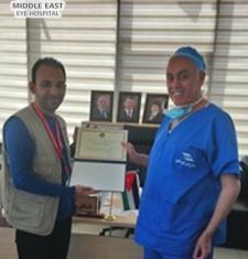 تكريم الدكتور موسى بيضون المدير العام لمستشفى الشرق الاوسط للعيون من قبل الجمعية الطبية السورية الأمريكية (SAMS)